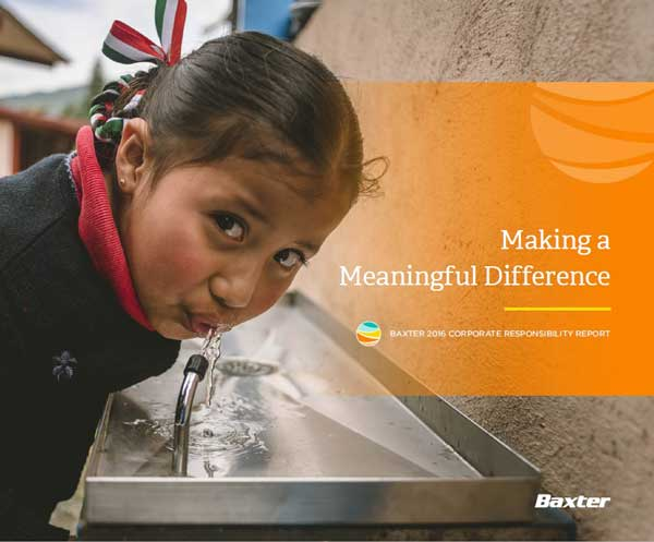 2016 Baxter Corporate Responsibility Report