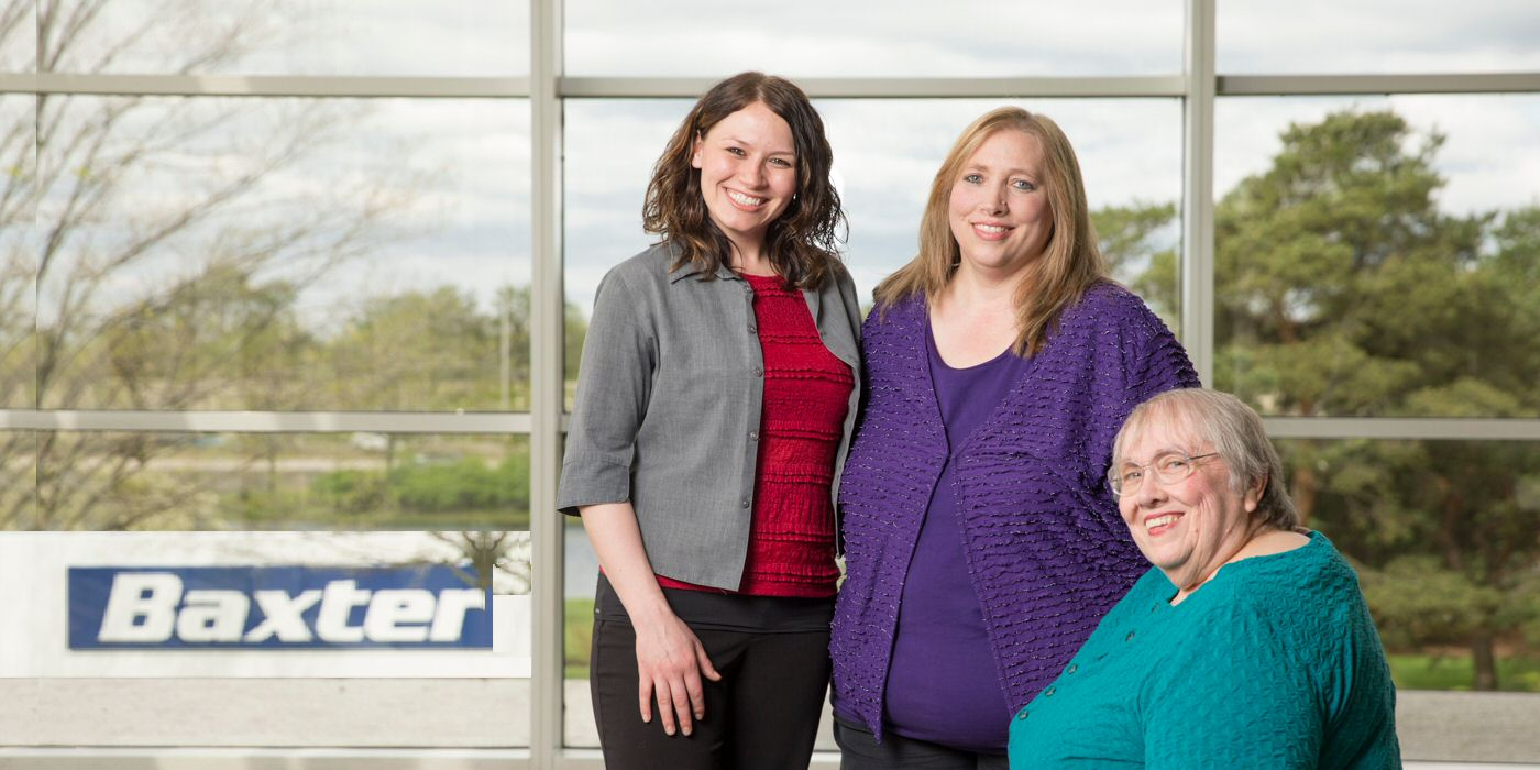 Three generations of a Baxter family have helped save and sustain lives at Baxter for more than 16 years.
