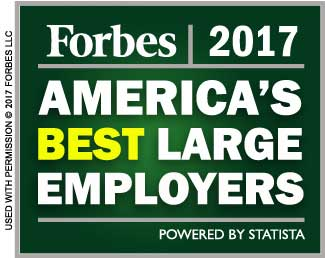 Forbes 2017 America's Best Large Employers graphic