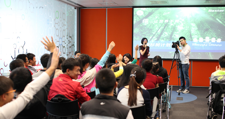 Baxter employees in China win award for CSR program.