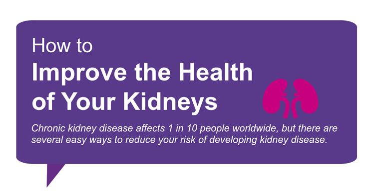 How to improve the health of your kidneys graphic