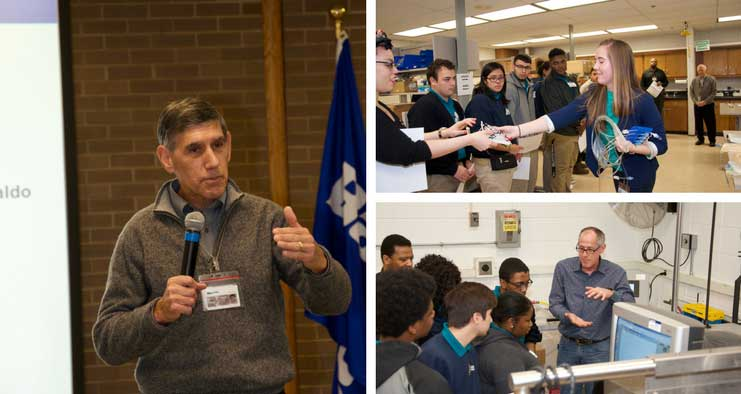 Baxter's Marc Minkus speaks to students about STEM education